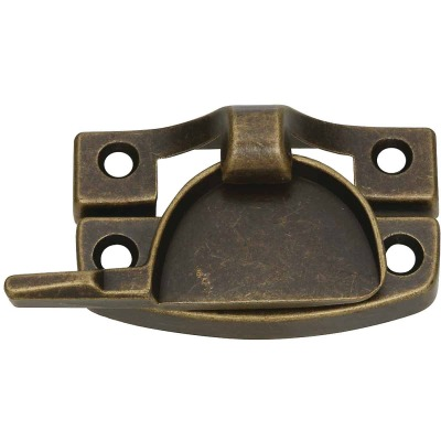 National Antique Brass Finished Die-Cast Zinc Crescent Sash Lock