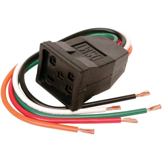 Dial 115V & 230V/15A Pigtail Motor Receptacle for 1 or 2-Speed Motors up to 1 HP