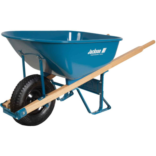 Jackson 6 Cu. Ft. Flat Free Tire Steel Wheelbarrow