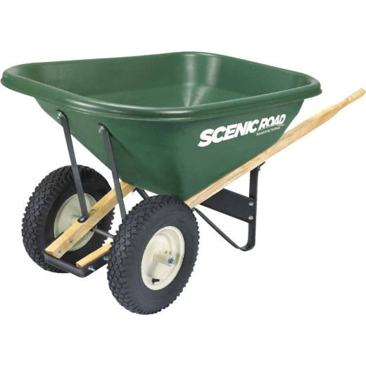 Scenic Road 8 Cu. Ft. Heavy Duty High-Density Poly Wheelbarrow