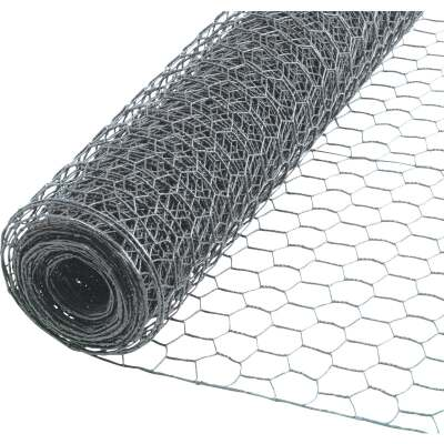 1 In. x 24 In. H. x 10 Ft. L. Hexagonal Wire Poultry Netting