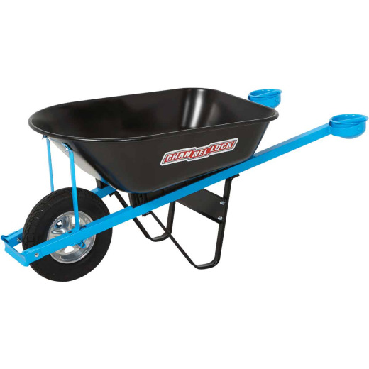 Channellock 6 Cu. Ft. Steel Tray Wheelbarrow with Pivot Handle